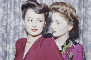 Olivia de Havilland and Joan Fontaine in 1945 (Silver screen collection)