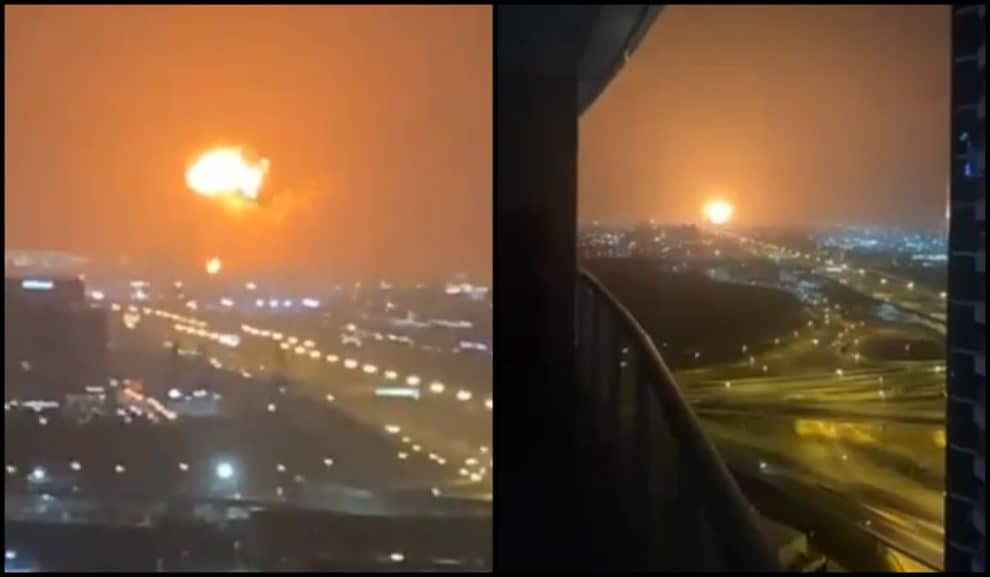 A Loud Explosion Sparked A Fire In Dubai's Main Port